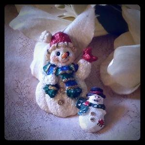 Vintage Snowmen Pins